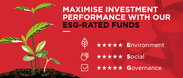 Maximise investment performance with our ESG-rated funds