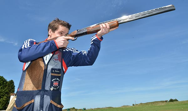 Tim Kneale Olympic shooter, sponsored by RL360 Quantum