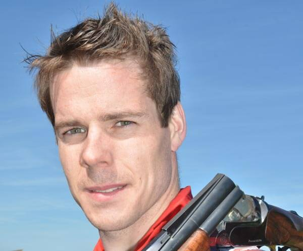 Tim Kneale Olympic shooter, sponsored by RL360° Quantum