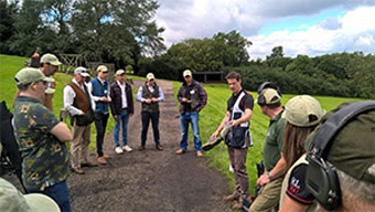 Holland and Holland RL360 shooting event